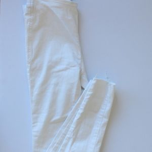 Free People Pull On white jeans